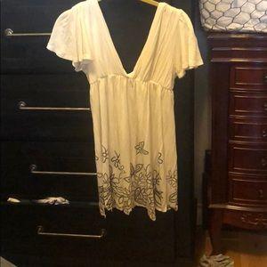 Cream top or short dress